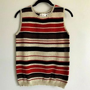 Vintage Sweater Striped Tank Top Shirt